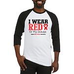 I Wear Red Grandpa Baseball Jersey
