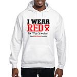 I Wear Red Grandpa Hooded Sweatshirt
