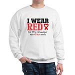 I Wear Red Grandpa Sweatshirt