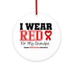 I Wear Red Grandpa Ornament (Round)