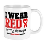 I Wear Red Grandpa Mug