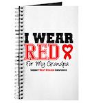 I Wear Red Grandpa Journal