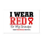 I Wear Red Grandpa Mini Poster Print
