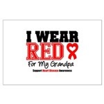 I Wear Red Grandpa Large Poster