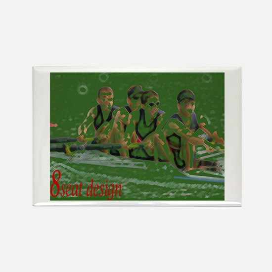 green rowers Rectangle Magnet