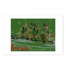 green rowers Postcards (Package of 8)