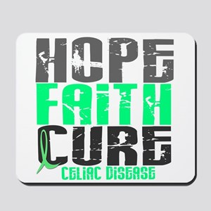 HOPE FAITH CURE Celiac Disease Mousepad