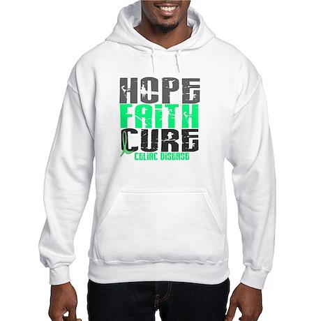 HOPE FAITH CURE Celiac Disease Hooded Sweatshirt