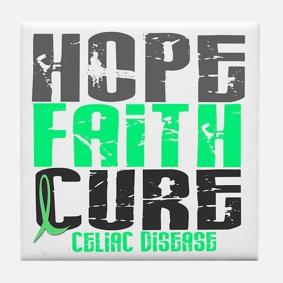 HOPE FAITH CURE Celiac Disease Tile Coaster