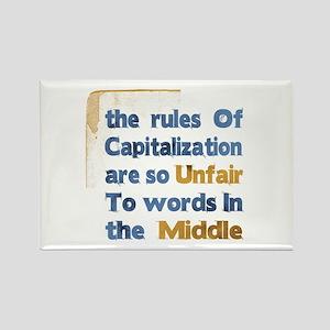 Capitalization - Rectangle Magnet