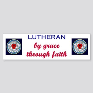 Lutheran by Grace 1 Bumper Sticker