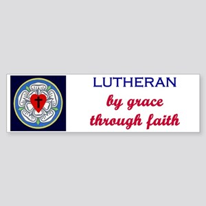 Lutheran by Grace 2 Bumper Sticker