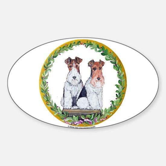 Fox Terrier Crest Sticker (Oval)
