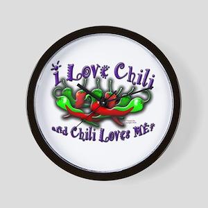 I Love Chili and More Wall Clock