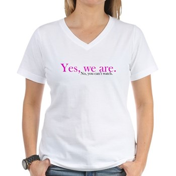 Yes, we are. Women's V-Neck T-Shirt