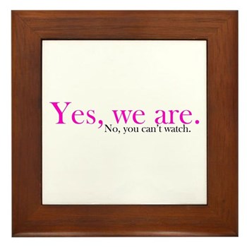 Yes, we are. Framed Tile
