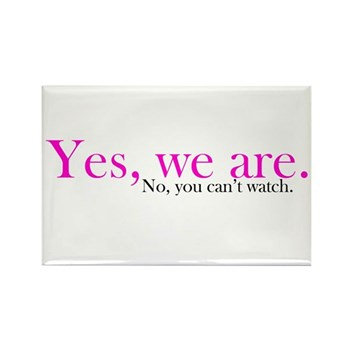 Yes, we are. Rectangle Magnet (10 pack)