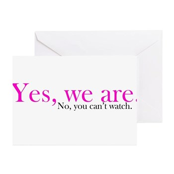 Yes, we are. Greeting Cards (10 pack)