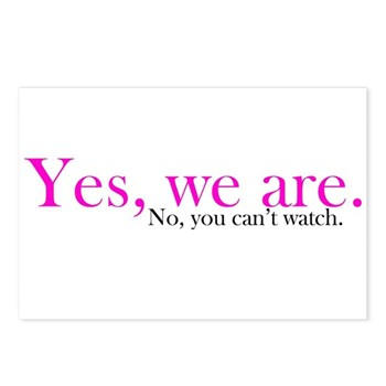 Yes, we are. Postcards (Package of 8)