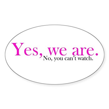 Yes, we are. Oval Sticker (10 pk)