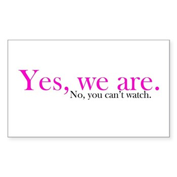 Yes, we are. Rectangle Sticker 50 pk)