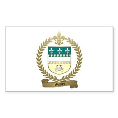 GUILLET Family Crest Rectangle Decal