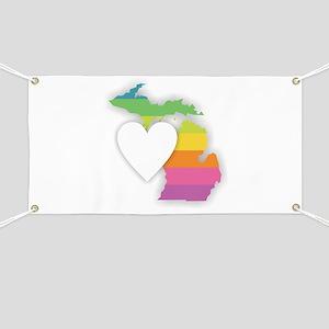 Michigan Rainbow Heart Banner