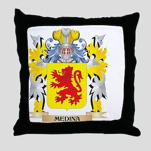 Medina Coat of Arms - Family Crest Throw Pillow