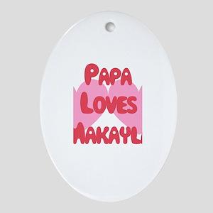 Papa Loves Makayla Oval Ornament
