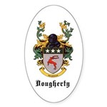 Dougherty Coat of Arms Oval Sticker (10 pk)