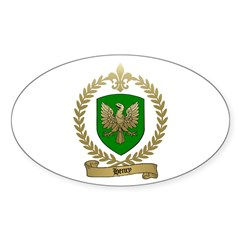 HENRY Family Crest Oval Decal