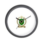 HENRY Family Crest Wall Clock