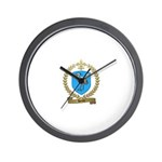 HERON Family Crest Wall Clock