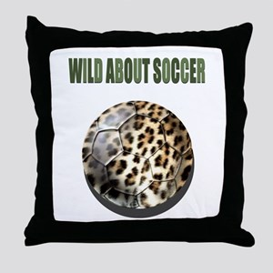 Wild About Soccer Throw Pillow