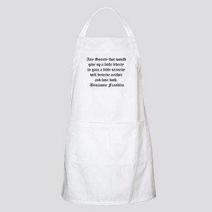 Ben Franklin Liberty Quote BBQ Apron