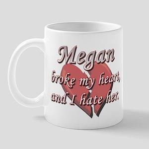 Megan broke my heart and I hate her Mug
