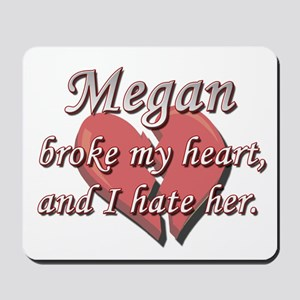 Megan broke my heart and I hate her Mousepad