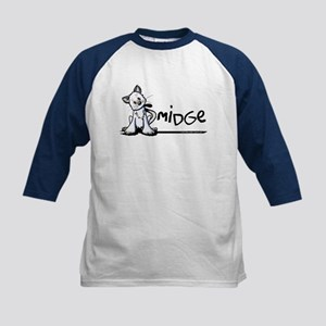 Smidge Kitten Kids Baseball Jersey