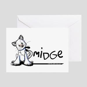 Smidge Kitten Greeting Card
