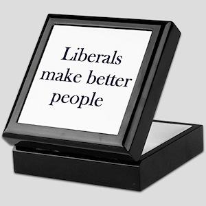 Liberals Make Better People Keepsake Box