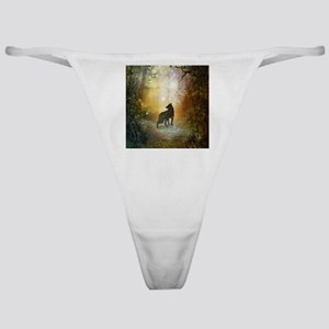 The lonely wolf in the night Classic Thong