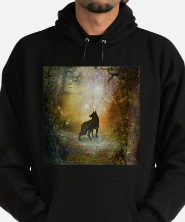 The lonely wolf in the night Sweatshirt