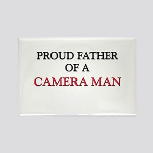Proud Father Of A CAMERA MAN Rectangle Magnet