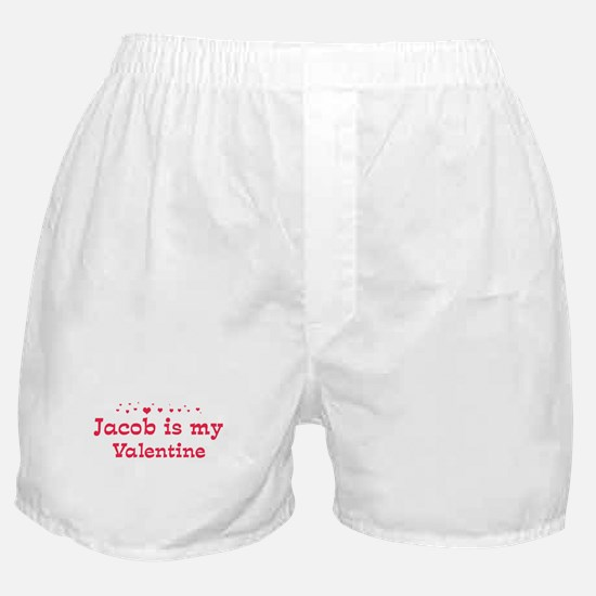 Jacob is my valentine Boxer Shorts