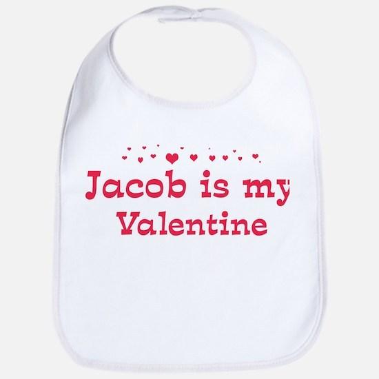 Jacob is my valentine Bib