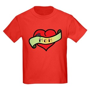 bec608cc8 Mom Heart Tattoo Kids Clothing & Accessories - CafePress
