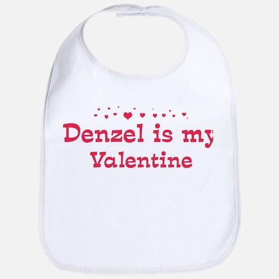 Denzel is my valentine Bib