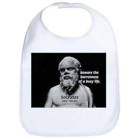 Socrates: Wisdom from Leisure Bib