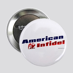 """American Infidel (eagle) 2.25"""" Button (10 pack)"""