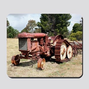Old rusty tractor in the country Mousepad